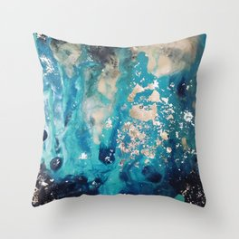 Galactic sparks Throw Pillow