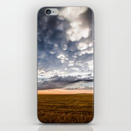 After the Storm - Spacious Sky Over Field in West Texas iPhone Skin