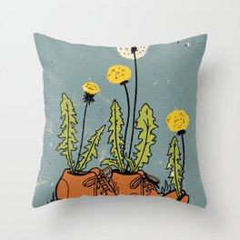 Dandy Shoes Throw Pillow