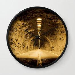 Late Hike Through Yosemite Tunnel Wall Clock
