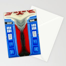 British Blue Police Public Call Box - 1111 Stationery Cards