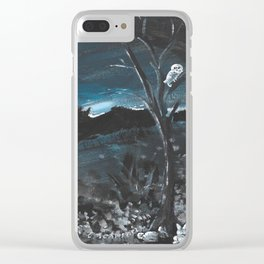 Knight Owl II Clear iPhone Case
