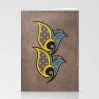 persian Stationery Cards featuring Persian Bird by Katayoon Photography