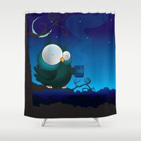 coffee Shower Curtains featuring Coffee break by mangulica
