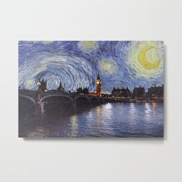 starry night over london Metal Print