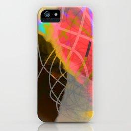 line is black iPhone Case