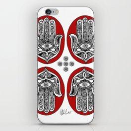 Red Hamsa Illustration iPhone Skin