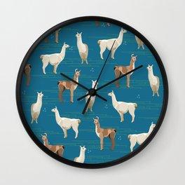 Peruvian Llamas Wall Clock