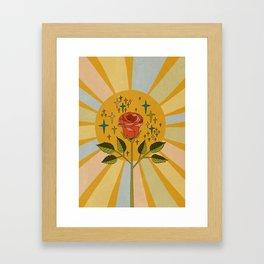 Sun rose Framed Art Print