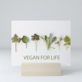 Vegan For Life Mini Art Print