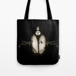 Dreams portal - with moon owl and crow Tote Bag