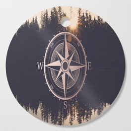 Rose Gold Compass Forest Cutting Board