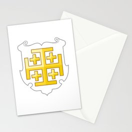 Kingdom of Jerusalem Coat of Arms  Stationery Cards