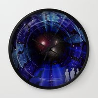 "stargate Wall Clocks featuring Stargate to ""Gliese 562"" ! by capricorn"