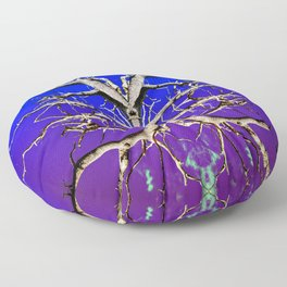 Purple Tree of Endless Haze Floor Pillow