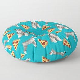 schnauzer pizza dog breed pet pattern dog mom Floor Pillow