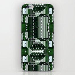 Computer Geek Circuit Board Pattern iPhone Skin