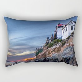 Bass Harbor Light in Acadia National Park Rectangular Pillow