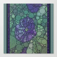 potato Canvas Prints featuring Percolated Purple Potato Flower by Charma Rose