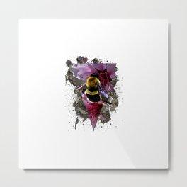 Bee Vibrant Metal Print