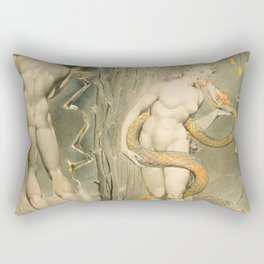 """William Blake """"The Temptation and Fall of Eve (Illustration to Milton's 'Paradise Lost')"""" Rectangular Pillow"""