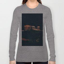 Parthenon at Night Long Sleeve T-shirt