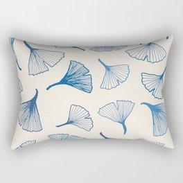 Ginko leaves blue Rectangular Pillow