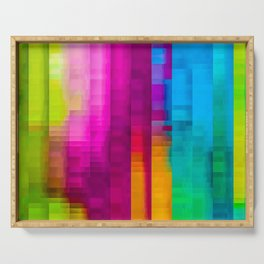 Vertical Rainbow Color Palette Serving Tray