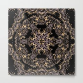 Purple and Gold Fractal Kaleidoscope 3 Metal Print