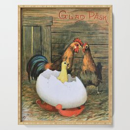 Baby Chick, Rooster, Hen Serving Tray