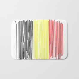 Belgian flag Bath Mat