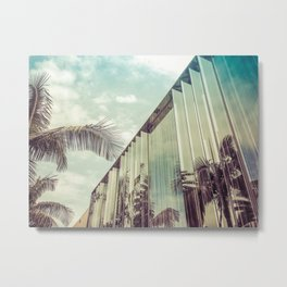 Beverly Hills - Palm Reflections IV Metal Print