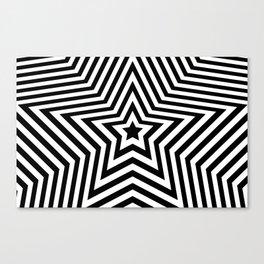 Stars - black & white vers. Canvas Print