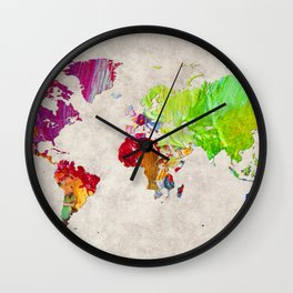 World Map 52 Wall Clock