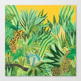 Leopard and a Chita Canvas Print