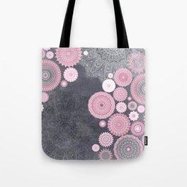 FESTIVAL FLOW - PINK GREY Tote Bag