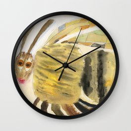 Bumble bee is flying high Wall Clock