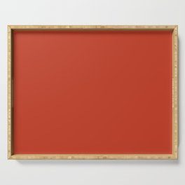Dark Chalky Pastel Red Solid Color Serving Tray