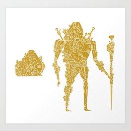 living robotic coral warrior  Art Print