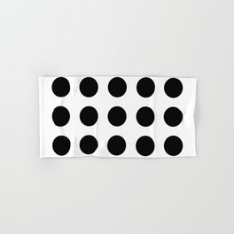 Simply Black Dots Hand & Bath Towel