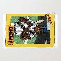 gryffindor Area & Throw Rugs featuring Wookiee of the Year by Joe Van Wetering