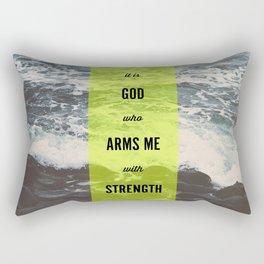 ARMS ME WITH STRENGTH Rectangular Pillow