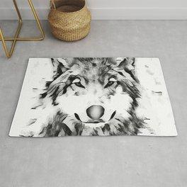 Watercolor Wolf Rug
