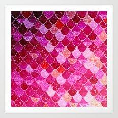 PINK  MERMAID Art Print