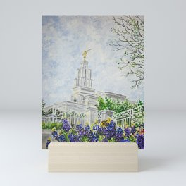 San Antonio Texas LDS Temple Mini Art Print