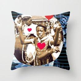 Second Line Love Throw Pillow
