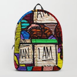 African American Masterpiece 'I Am A Man' Portrait Backpack