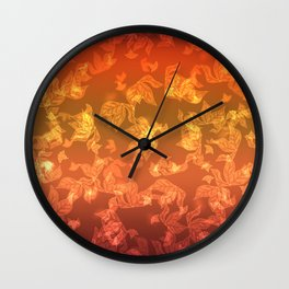 Autumn leaf fall. The bokeh effect. Wall Clock