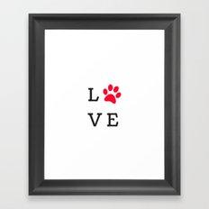 LOVE Paw Print (Dog Valentine) Framed Art Print