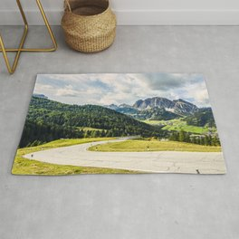 on the roads of dolomites Rug